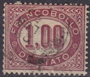 Italy #O5 F-VF  Used CV $20.00 (Z7921)