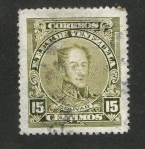 Venezuela  Scott 274a Used perf 14 Simon Bolivar 1924-39