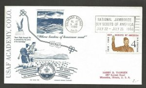1960 US National Boy Scout Jamboree Colorado Springs US Air Force Academy