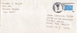 Caroline Islands Micronesia 20c Four-Star Envelope 1984 Ponape Caroline Islan...