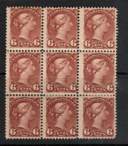 Canada #43 Mint Fine Block Of Nine
