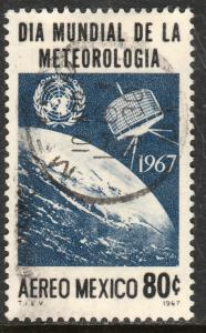 MEXICO C323, World Meteorological Day Tiros Satel Used (1166)