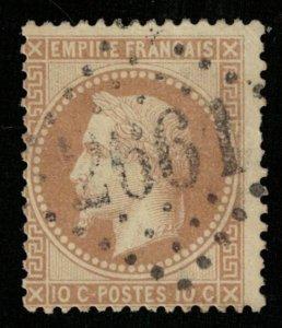 France, 1863-1870 Emperor Napoléon III, 10 c, YT #28 (Т-7979)