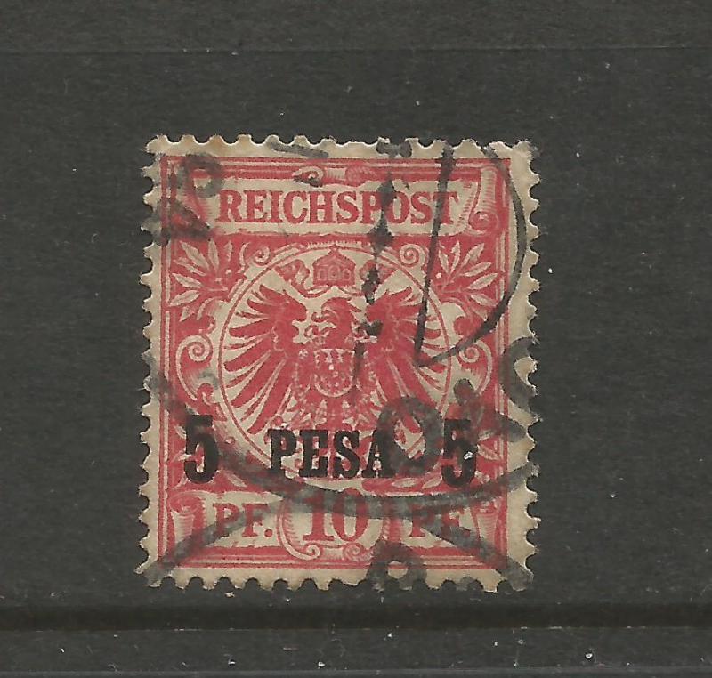 GERMAN EAST AFRICA 1893  5pe on 10pf  RED     FU   Sc 3