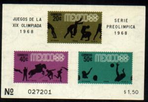 MEXICO 992a, Souvenir Sheet 4th Pre-Olympic Set MNH