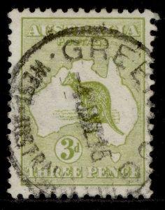 AUSTRALIA GV SG5, 3d olive, FINE USED. Cat £11.