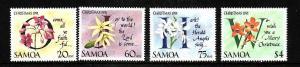 Samoa-Sc#793-6-Unused NH set-Flowers-Christmas carols-Orchids-1991-
