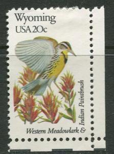 USA - Scott 2002 - State Birds & Flowers - 1982 - MNG - Single 20c Stamp