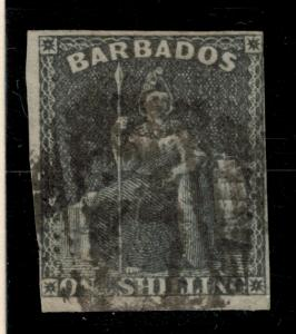 Barbados Stamp Scott #9, Used - Free U.S. Shipping, Free Worldwide Shipping O...