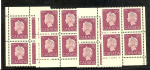 Canada #926a  M/S  Plate Blocks  VF NH -  Lakeshore Philatelics