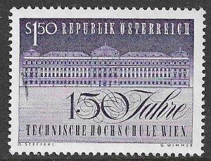 AUSTRIA 1965 University of Technology Anniversary Issue Sc 755 VFU