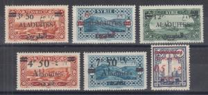 Alaouites Sc 38//46 MLH. 1925-1928 stamps of Syria ovpted for Alaouites, 6 diff