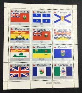 MOMEN: US STAMPS CANADA #17c FLAGS SHEET MINT OG NH LOT #53054