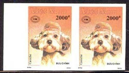 Viet Nam 1990 Imperf Dogs set Sc# 2098-114 NH