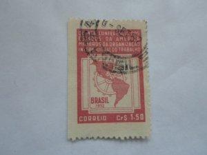 BRASIL STAMP USED FINE CON. HINGE MARKS # 3