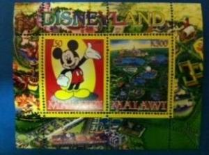 Malawi 2008 M/S Disneyland Mickey Mouse Disney Cartoon Animation Stamps (1) perf