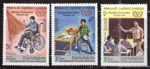 LAOS Scott 343-345 MNH** Disabled worker set