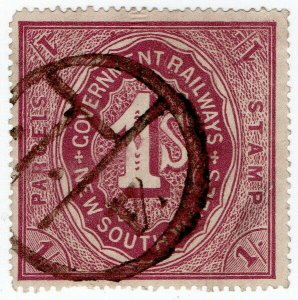 (I.B) Australia - NSW Railways : Parcel Stamp 1/- (1918)