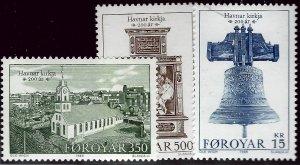 Amazing Faroe Islands SC#186-88 MNH VF SCV$8...Faroe Islands are Magical!