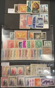 Spain 54 Stamps Most Mint HR