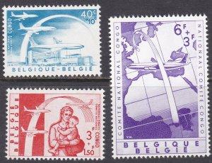 Belgium Sc #B669-671 Mint Hinged; Mi #1206-08