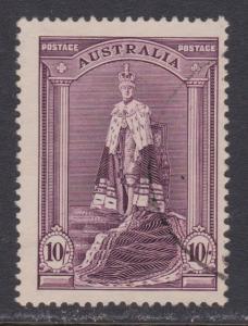 Australia # 178 , King George VI in Coronation Robe , VF Used - I Combine S/H