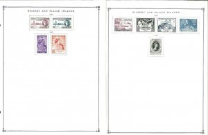 Gilbert & Ellice Islands 1946-1975 Complete Mint Hinged on Scott Int. Pages.