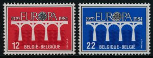Belgium 1169-70 MNH EUROPA