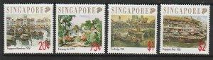 1992 Singapore -Sc 617-20 - 4 singles - MNH VF - Paintings