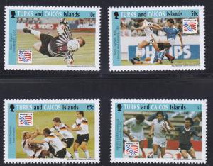 Turks & Caicos # 1065 / 1071, World Cup Soccer, Short Set, NH