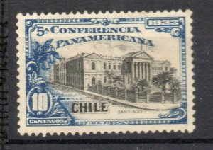 Chile 1923 Pan America Issue Mint hinged Shade of 10c. NW-13090