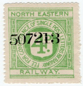 (I.B) North Eastern Railway : Letter Stamp 4d