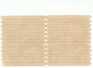 Scott # 842 - 3c Deep Violet - Jefferson - Line Pair - MNH