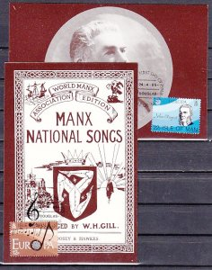 Isle of Man, Scott cat. 282-283. Europa-Music Year issue. Max. Cards. ^