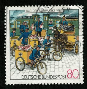 Deutsche Bundestpost, 1987, The Day of Stamps, 80 Pfg. (T-9341)