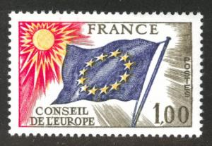FRANCE Scott 1o18 MH*  Council of Europe Flag stamp 1976