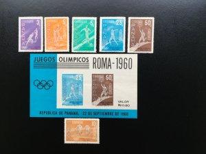 Panama 1960 Summer Olympic Rome Mint