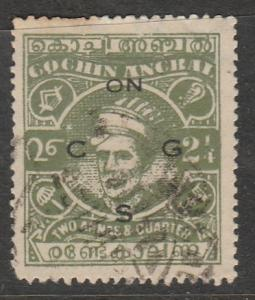 Inde / Cochin  1944  Scott No. O61  (O) Official Stamp