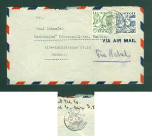 Curacao. Cover 1939 Airmail. 35+40 Ct. Cancel: Aruba,Oranjestad. Adr: Germany