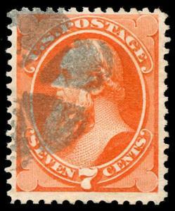 momen: US Stamps #160 Used Weiss TR-W14 NYFM Cancel