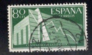 SPAIN Scott 854 Used Statistics stamp