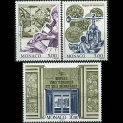 MONACO 1996 - Scott# 2020-2 Stamp & Coin Museum Set of 3 NH