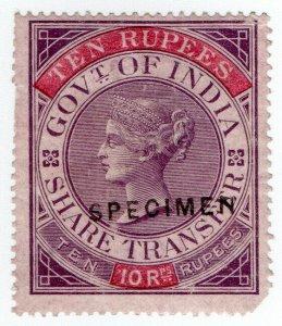 (I.B) India Revenue : Share Transfer 10R (specimen)