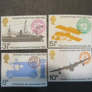 Great Britain 720-723  Universal postage Union set Mint NH OG 1974 Cv. $1.00