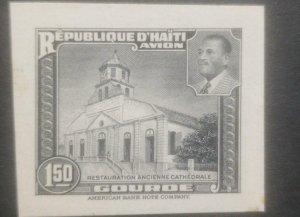 L) 1951 HAITI, DIE PROOFS, AMERICAN BANK NOTE, OLD CATHEDRAL RESTORATION, PRESID