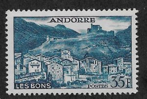 ANDORRA - FRENCH SC# 137  FVF/MOG 1957