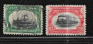 US # 295-296  Pan-American Exposition (U) CV $4.00