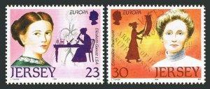 Jersey 748-749,MNH.Michel 735-736. EUROPE CEPT-1996.Elizabeth Garrett,physician;