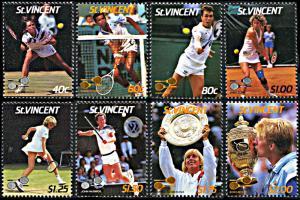 St. Vincent MNH 988-95 Wimbledon Tennis Championships 1987