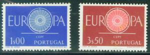 Portugal Scott 866-7 MH* 1960 Europa set
